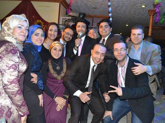 بالصور سامح يسرى و اسرار الجمال يشعلان حفل الاعلامى أحمد مشعل