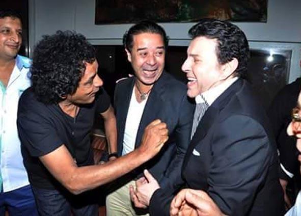 بالصور ..الكينج ومدحت صالح يدعمون هانى شاكر نقيبا لهم