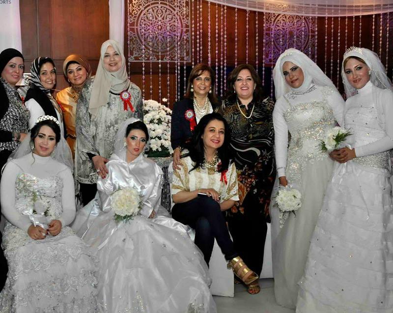 سامح يسري وشذا يحيون حفل الزفاف الجماعي الخامس ل 32 عريس وعروسة بهيلتون الاسكندرية