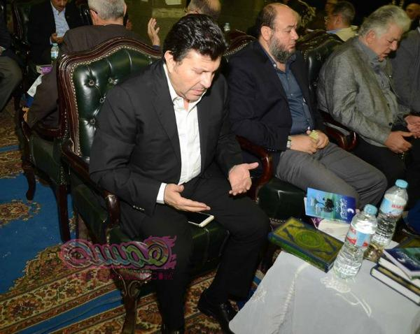 بالصور الفنان هانى شاكر والمنتج محمد فوزى فى عزاء ماجدة كامل