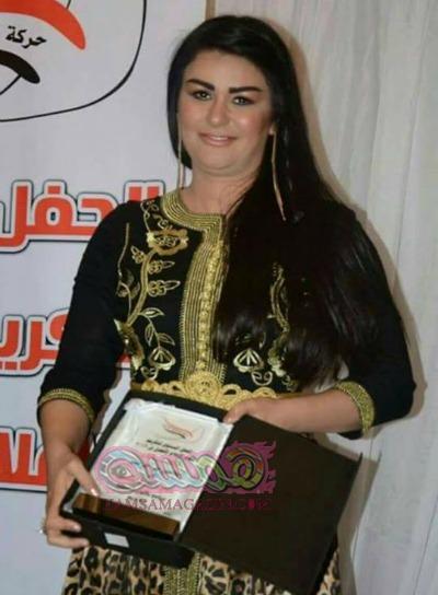 نادية حسنى بجائزة افضل برنامج منوعات لعام 2016