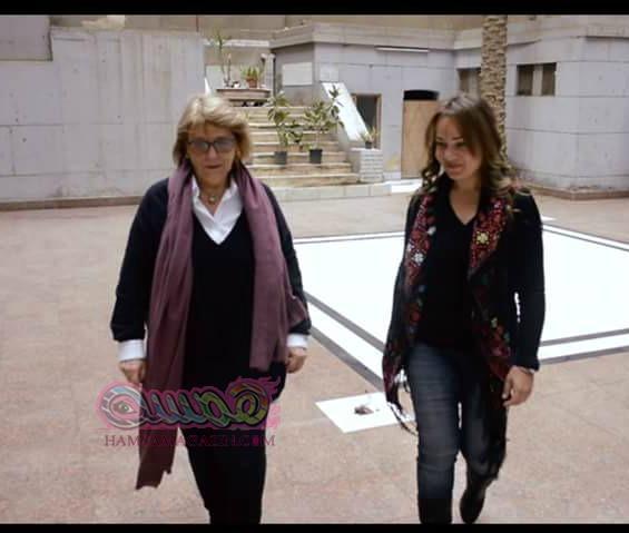 هاشتاج يلتقي رئيسة الطائفة اليهودية ماجدة هارون