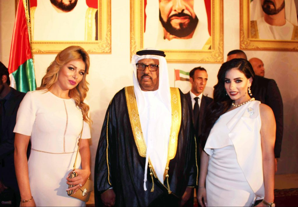 المطربة مروة ناجى وسعادة سفير الإمارات بالقاهرة